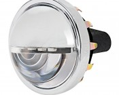 LED Chrome Round License Plate Light