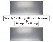 LED Skylight w/ Balloon 3 Skylens® - 2x4 Dimmable LED Panel Light - Flush Mount/Drop Ceiling Recessed Moun: Back View Comparison