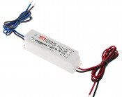Mean Well LED Power Supply - LPV series 20W Single Output LED Power Supply - 24V DC