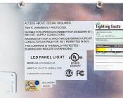50W LED Panel Light Fixture - 2ft x 4ft: Detail Of LED Panel Information Labels