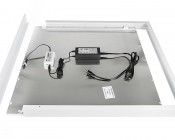 LED Panel Light Ceiling Frame Kit: Slide LED Panel In Ceiling Frame Kit With One Frame Side Uninstalled. Position All Components And Drivers On Back Of LED Panel For Installation. (controller & driver not included)