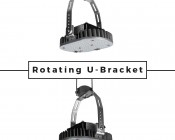LED Retrofit Kit for 500W HID Fixtures - 11,200 Lumens: Rotating U-Bracket Feature
