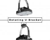 LED Retrofit Kit for 750W HID Fixtures - 18,000 Lumens: Rotating U-Bracket Featured