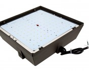 LED Canopy Light and Parking Garage Light - 100W High Power LED - Natural White: Opened Showing LEDs