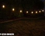 LED Patio String Lights w/ 10 LED Filament or Firework Bulbs - Pendant Sockets - 21'