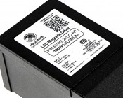 Magnitude Dimmable LED Power Supply - 24 Volt: Close Up of Labels