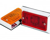 M10C series Rectangular Chrome-plated Marker Lamp: Available In Red & Amber