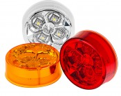 M4-HB series High Brightness 2.5in Round LED Marker Lamp: Available In White, Red & Amber