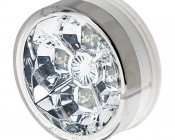 "Round LED Truck and Trailer Lights w/ Clear Lens - 2.5"" LED Side Clearance Lights w/ 4 High Flux LEDs - 2-Pin Connector"