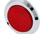 "Round LED Truck Trailer Light - Low Profile 2-1/2"" Surface Mount LED Marker Clearance Light with 9 LEDs"