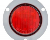 M5 series 2in Round LED Marker Lamp with Flange: Front View