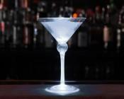Mini Recessed LED Accent Light - 1 Watt - Cool White: Shown Illuminating Glass In Cool White.