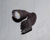 LED Motion Sensor Light - Single Head Security Light - 10W - 730 Lumens: Installed On Shed