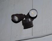 LED Motion Sensor Light - 2 Head Security Light - 20W - 1,500 Lumens: Installed On Shed