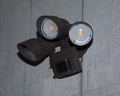 LED Motion Sensor Light - 3 Head Security Light - 30W - 2,450 Lumens: Installed On Shed