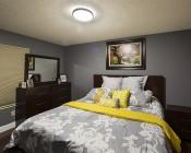 "14"" Brushed Nickel Dimmable LED Flush Mount Ceiling Light: Installed In Master Bedroom"