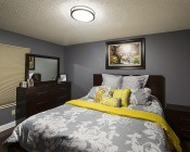 "16"" Dimmable LED Flush Mount Ceiling Light: Installed In Master Bedroom"