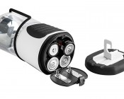 UltraBright LED Lantern with USB Port: Bottom Twists Off To Access Batteries (not included)