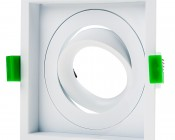 LED Recessed Light Engine - Square 98mm Gimbal Trim - 12 Watt COB LED
