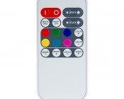 Mini RGB+W Controller with RF Remote - Dynamic Color-Changing Modes - 4 Amps/Channel: Front View of Remote