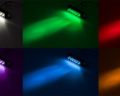 Rectangular Accent Light Module: (Top Left) Cool White (Top Middle) Green (Top Right) Red (Bottom Left) UV (Bottom Middle) Blue (Bottom Right) Amber