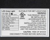 Modular LED Shoebox Area Light - 150W: Close Up Of Label
