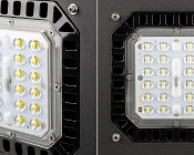 Modular LED Shoebox Area Light - 150W: Close Up of Modular LED Lens
