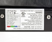 Modular LED High Bay Light - 120W: Close Up View Of Label