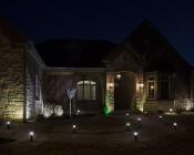 LED Landscape Path Lights - Mini Bollard - 4 Watt: Installed On Walkway Path- Natural White