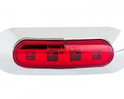 MMOC-x4 series Mini Oval Clearance Lamp : Front View