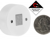 Mini RF Single Color Push Button LED Dimmer Switch w/ Magnetic Base for EZ Dimmer Controller: Back View with Size Comparison