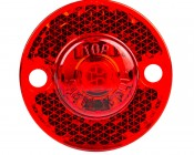 """Mini Round LED Truck Trailer Light - 1"""" LED Marker Clearance Light with 1 LED: Front View"""