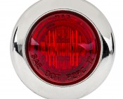 "Mini Round LED Truck Trailer Light - 3/4"" PC Rated LED Marker Clearance Light with 1 LED: Front View"