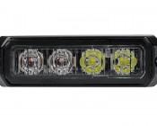 12 Watt Vehicle Mini Strobe Two-Color Light Head: Face View