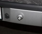 Mini Strobe Light Flange Mount: Installed On Back Bumper Of Work Vehicle