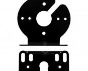 Mini Strobe Light Oval Bracket: Front & Bottom View