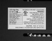 Modular LED High Bay Light - 450W: Close Up Of Specs Label