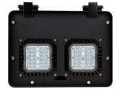 Modular LED Shoebox Area Light - 100W: Front View