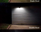 LED Motion Sensor Light - Single Head Security Light - 10W: Comparison Of Single, Double, And Triple Light Heads.
