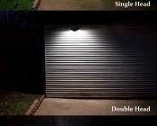 LED Motion Sensor Light - 2 Head Security Light - 20W: Comparison Of Single, Double, And Triple Light Heads.