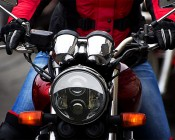 """7"""" Round Motorcycle Headlight - DOT Approved LED Headlight Conversion: Installed in Harley Davidson"""