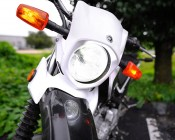 Motorcycle LED Headlight Conversion Kit - H13 LED Headlight Bulb Conversion Kit with Compact Heat Sink