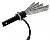 Motorcycle LED Headlight Conversion Kit - 881 LED Headlight Bulb Conversion Kit with Flexible Tinned Copper Braid