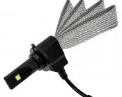 Motorcycle LED Headlight Conversion Kit - HB4 (9006) LED Headlight Bulb Conversion Kit with Flexible Tinned Copper Braid