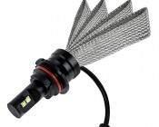 Motorcycle LED Headlight Conversion Kit - 9004 LED Headlight Bulb Conversion Kit with Flexible Tinned Copper Braid