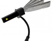 Motorcycle LED Headlight Conversion Kit - H1 LED Headlight Bulb Conversion Kit with Flexible Tinned Copper Braid