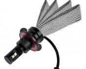 Motorcycle LED Headlight Conversion Kit - H13 LED Headlight Bulb Conversion Kit with Flexible Tinned Copper Braid