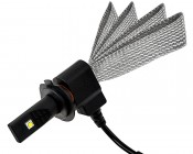 Motorcycle LED Headlight Conversion Kit - H7 LED Headlight Bulb Conversion Kit with Flexible Tinned Copper Braid