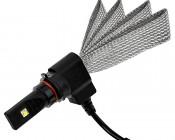 Motorcycle LED Headlight Conversion Kit - P13W LED Headlight Bulb Conversion Kit with Flexible Tinned Copper Braid