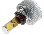 Motorcycle LED Headlight Conversion Kit - HB4 (9006) LED Headlight Bulb Conversion Kit with Radial Heat Sink